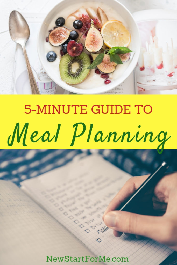 Meal planning puts you totally in control of your diet. These quick tips will help you realize you DO have time for meal planning in your week.