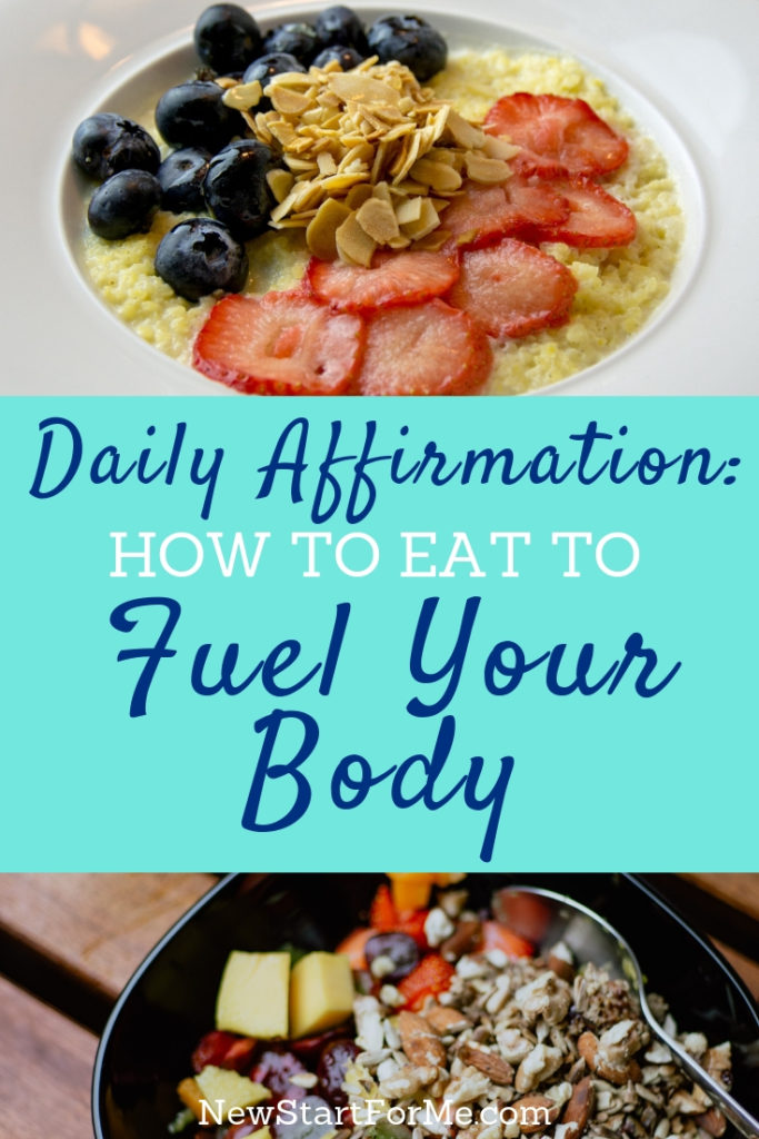 "Do you believe this: ""I eat to fuel my body well?"" You have complete control over what you consume! Use these daily affirmations to make yourself strong!"