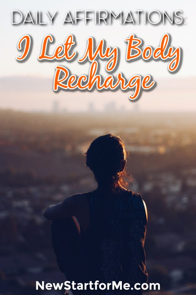 "Feel like life is a treadmill? Say it with us, ""I allow my body to recharge to be at peace."" NewStart Daily Affirmation Series. Recharge with us!"