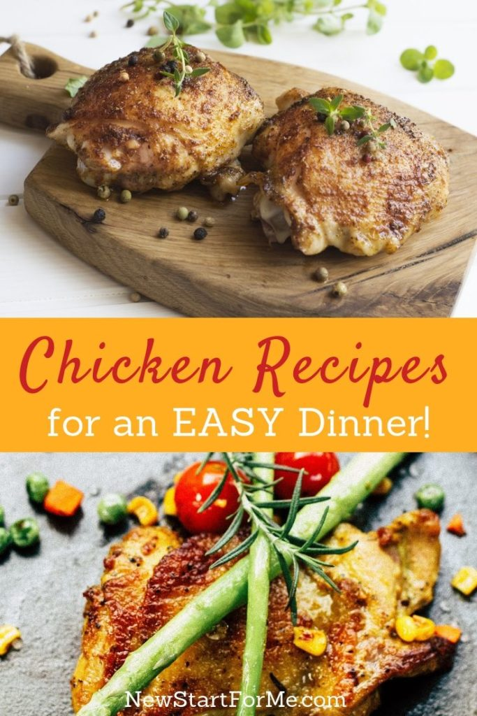 Enjoying easy dinner recipes with chicken not only makes cooking dinner easy but also makes eating healthy even easier for everyone.