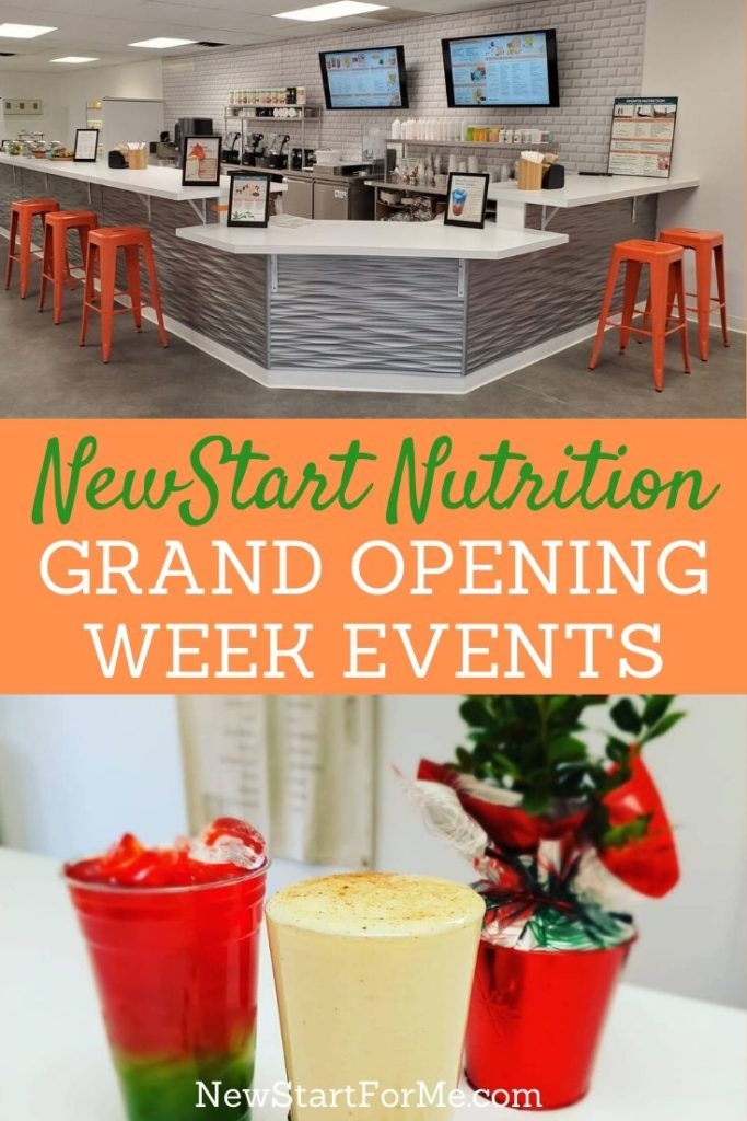 Join us for the NewStart Nutrition Grand Opening Week event to discover the power of nutrition, health, and local businesses.