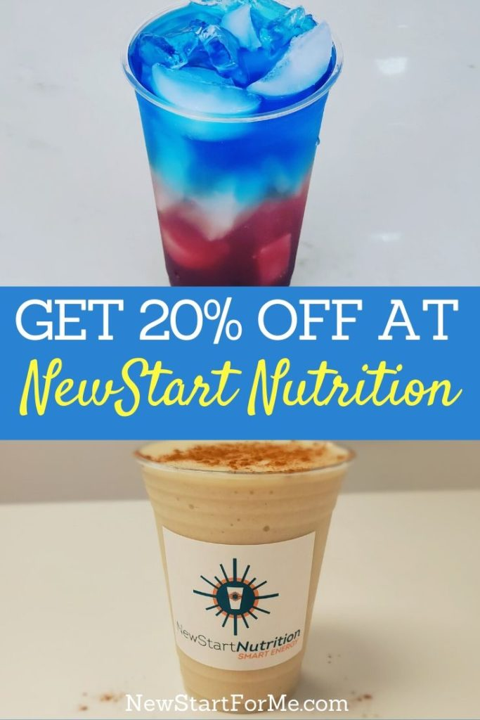 You could get an easy 20% off at NewStart Nutrition on Yelp and discover the difference in your day with a healthy meal replacement shake or tea.