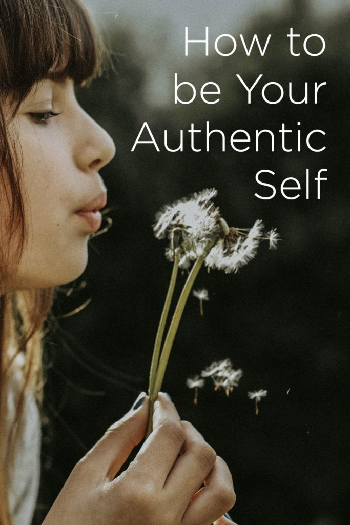 You can answer this question, how to be your authentic self by defining yourself, to yourself, and living up to that idea more often than not.