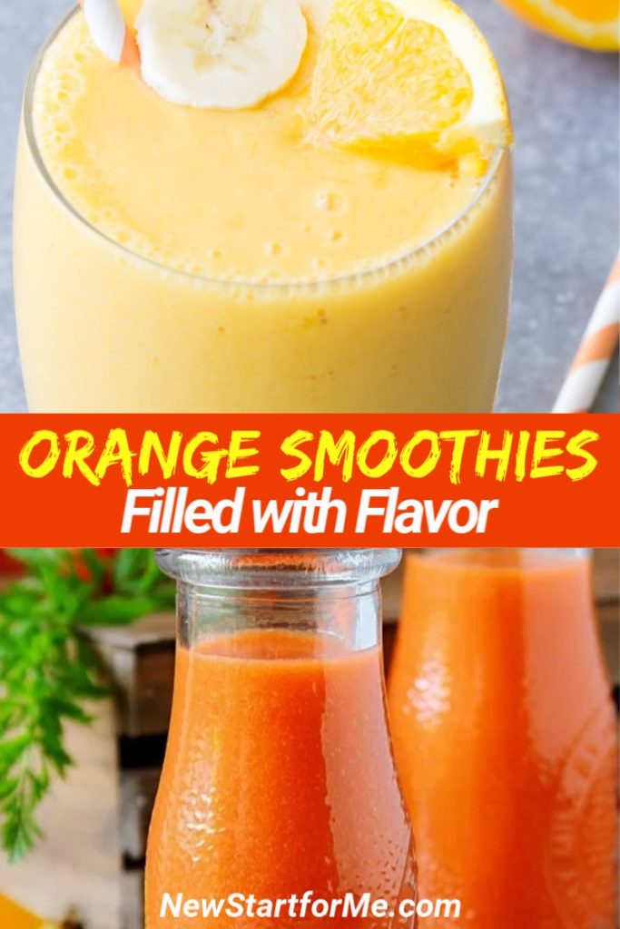 Smoothie recipes with oranges provide a boost of vitamin C and are a delicious and healthy snack or meal replacement. Healthy Smoothies with Oranges | Weight Loss Smoothies | Smoothies for Weight Loss | Healthy Snack Recipes | Snacks for Weight Loss | Recipes with Oranges #smoothies #weightloss