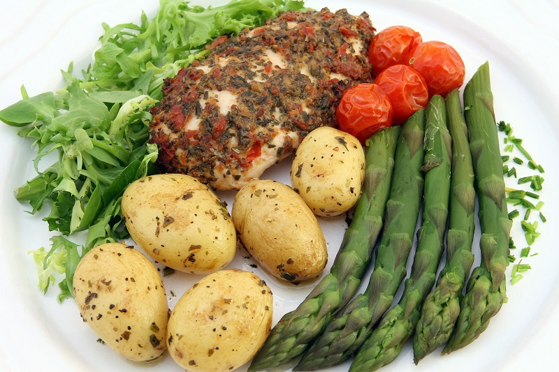 Healthy Family Dinner Ideas with Chicken Plate of Chicken with Mixed Vegetables