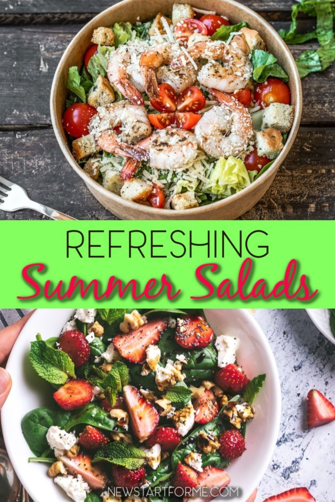 Refreshing salads are delicious on a hot day and offer variety to a healthy meal plan. These salad recipes are also easy to pack and take on the go. Healthy Salad Recipes | Salad Recipes for Weight Loss | Types of Salads | Summer Salad Recipes | Salad Recipes with Chicken | Weight Loss Recipes | Healthy Meal Plan Recipes #weightloss #recipes