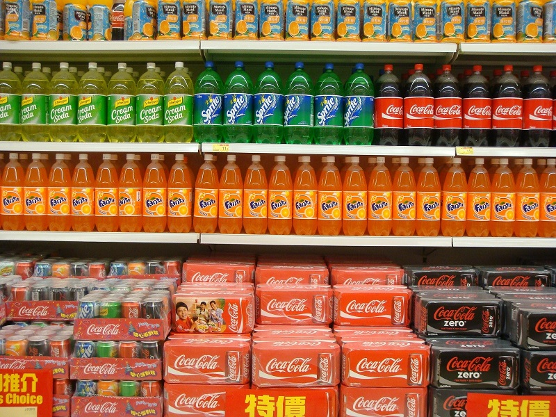 Complex vs Simple Carbs Sodas in a Grocery Store