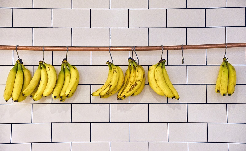 Healthy Banana Smoothie Recipes Bunches of Bananas Hanging on a Wall