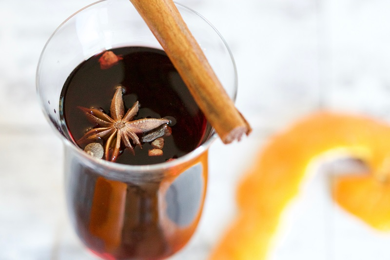 Holiday Tea Recipes Cup of Tea with Star Anise and Cinnamon