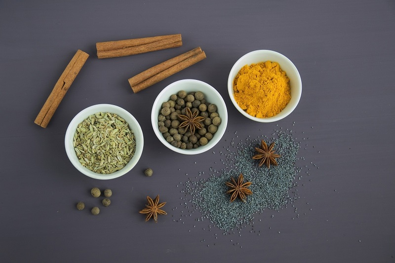 Holiday Tea Recipes Holiday Seasonings on a Counter