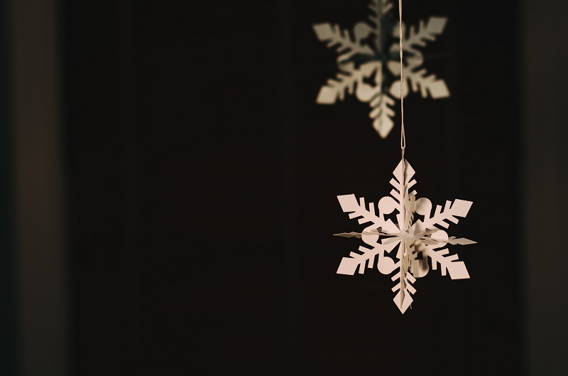 Gratitude Chains a Paper Snowflake Hanging