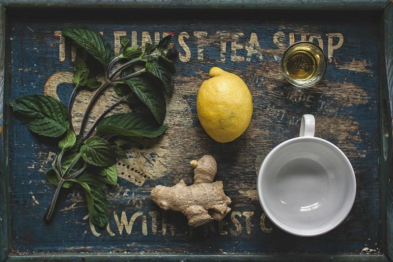 Herbalife Tea Flavors Lemon Tea Ingredients on a Tray