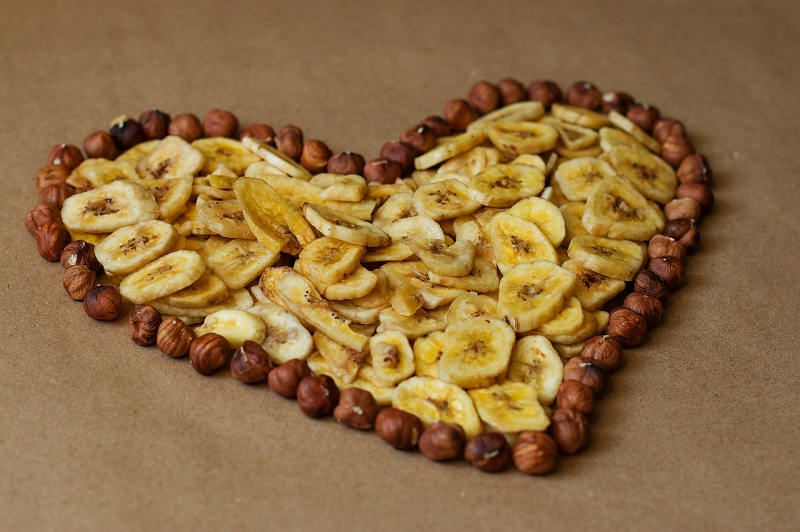 Herbalife Heart Health Products Dried Banana Slices in the Shape of a Heart