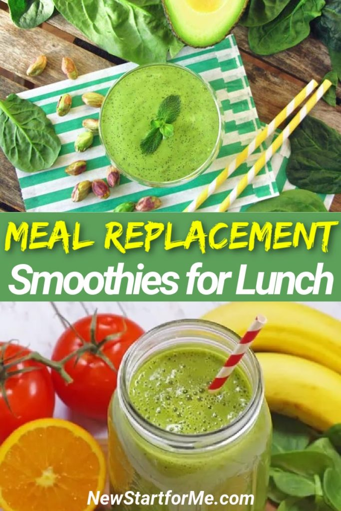 Use healthy lunch smoothies for meal replacement instead of skipping meals altogether in order to lose weight in a healthy way.