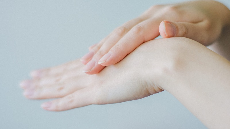 Herbalife Skin Product Benefits A Woman's Hands with One Hand Rubbing the Other